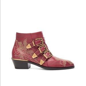 Chloe Susanna boots in 'wine'